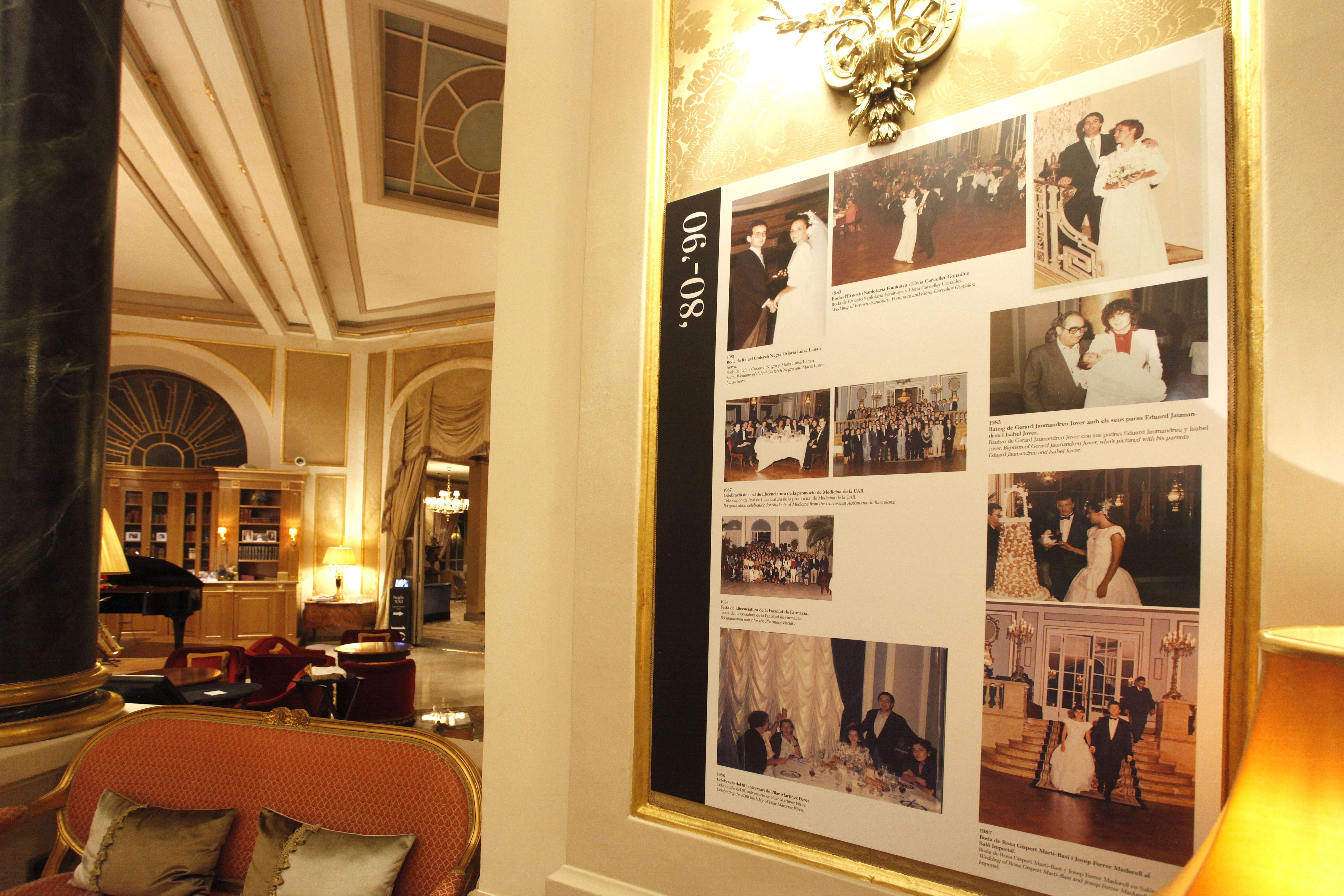 Imágenes fotográficas de la exposición El Palace Barcelona Hotel